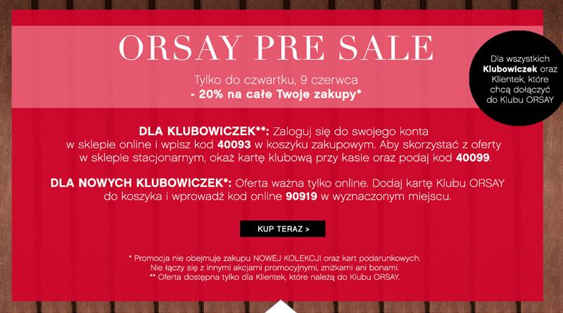 promocja orsay