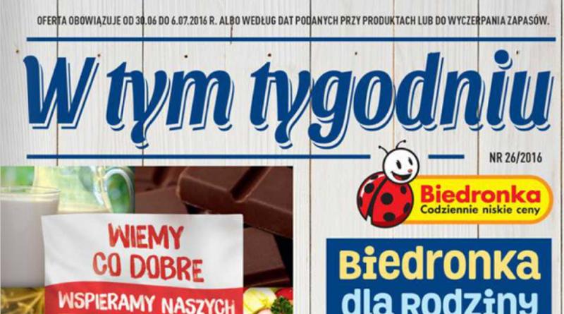 gazetka reklamowa biedronka od 30.06