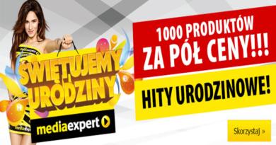 urodziny media expert 1000 produktów za pół ceny