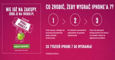 konkurs frisco wygraj iphone 7 2016