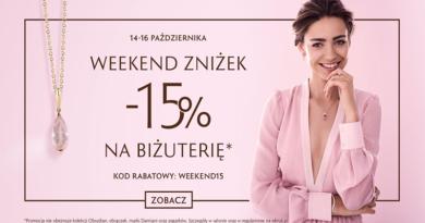 Kod rabatowy W.Kruk: Weekend zniżek - 15% na biżuterię