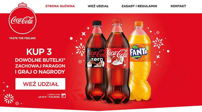 świąteczna loteria coca cola
