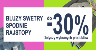 Promocja Smyk: Bluzy, swetry, spodnie, rajstopy do 30% taniej