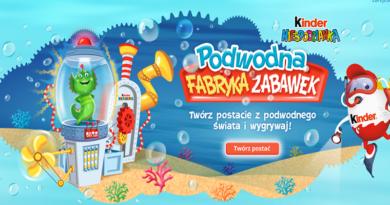 Konkurs Kinder Niespodzianka: Podwodna Fabryka Zabawek