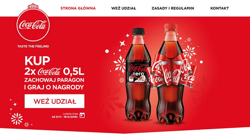 Loteria Coca Cola Świąteczna radość
