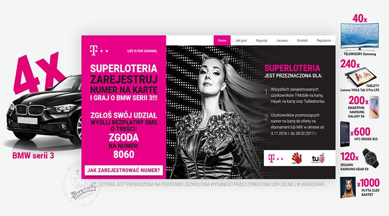 Super loteria T-Mobile Zarejestruj numer i graj o nagrody