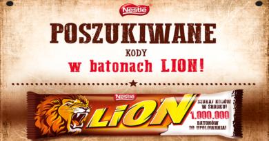Konkurs Żabka Poszukiwane kody w batonach LION