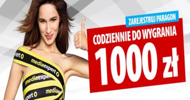 Konkurs Media Expert Codziennie do wygrania 1000 zł