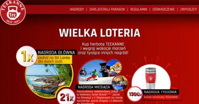 Loteria Teekanne Wygraj wakacje marzeń