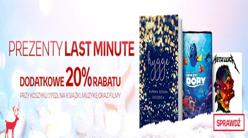 Promocja empik.com Prezenty Last Minute Dodatkowy rabat -20%