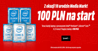 Promocja Media Markt 100 zł na START