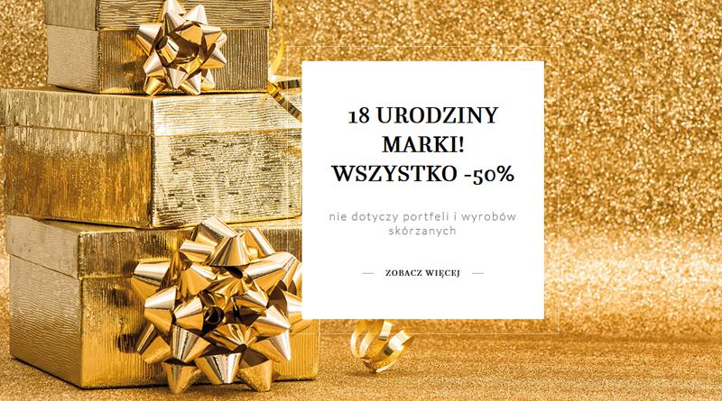 Promocja Monnari 18 urodziny marki Wszystko -50%