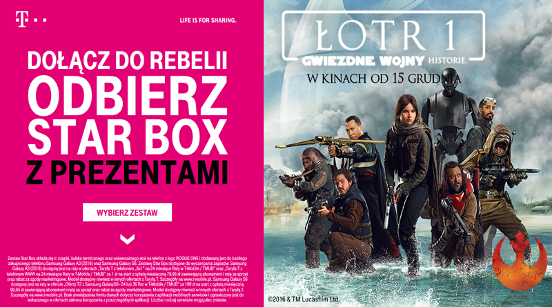 Promocja T-Mobile Dołącz do rebelii i odbierz STAR BOX z prezentami