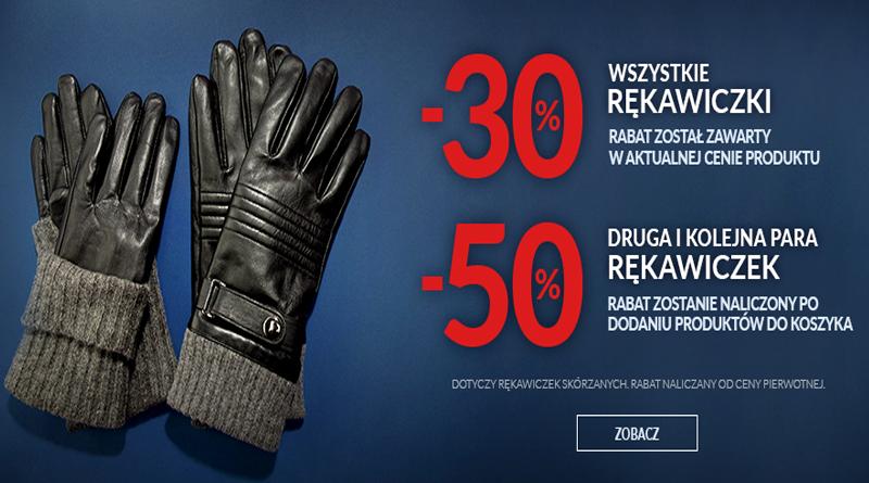 Promocja Wittchen 30% na rękawiczki, 50% na drugą parę