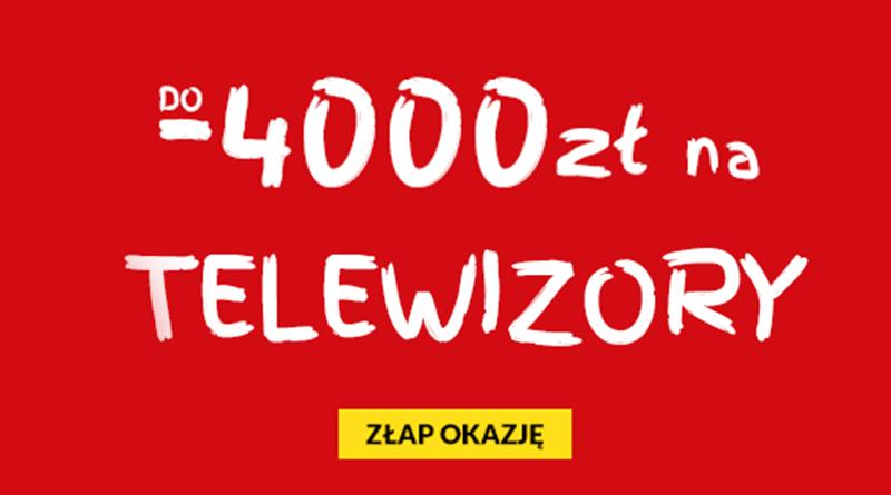 Promocja RTV EURO AGD: Telewizory do 4000 złotych taniej