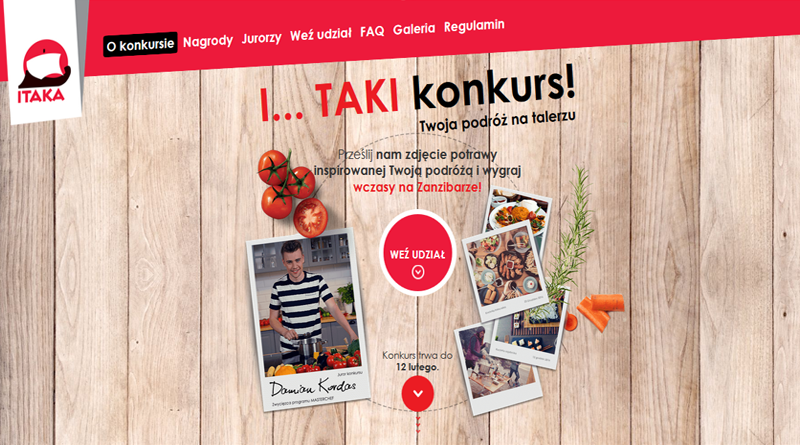 Konkurs Itaka I...TAKI konkurs! Twoja podróż na talerzu