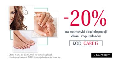 Promocja Douglas -20% na kosmetyki do pielęgnacji dłoni, stóp i włosów