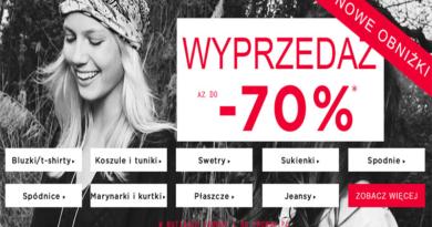 Wyprzedaż Promod Rabaty aż do -70% w butikach i na promod.pl