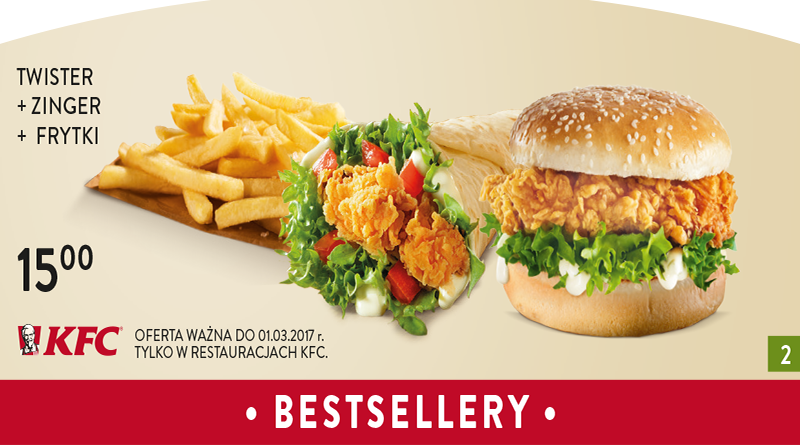 Kupony rabatowe KFC ważne do marca 2017