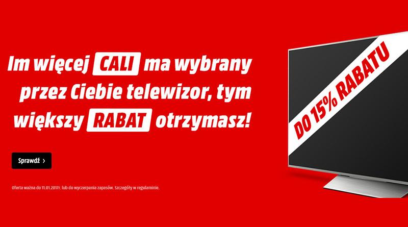 Promocja na telewizory Media Markt Rozmiar ma znaczenie
