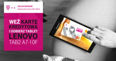 Weź kartę kredytową i odbierz tablet Lenovo w T-Mobile Usługi Bankowe
