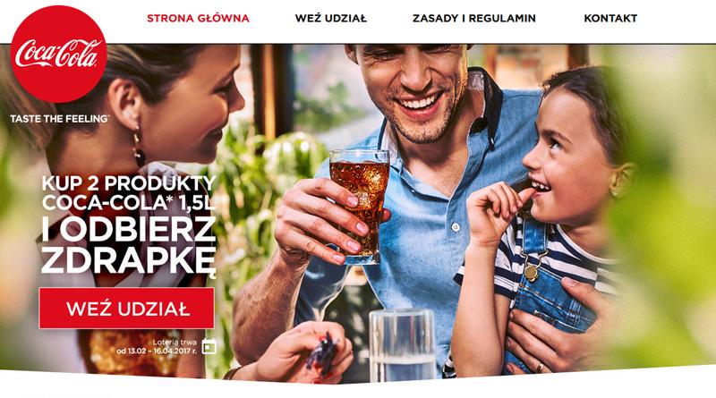 Miej radość z wygranej w loterii Coca Cola
