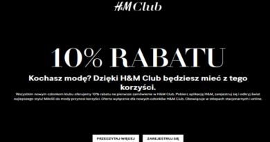 Promocja H&M 10% rabatu dla nowych klubowiczów