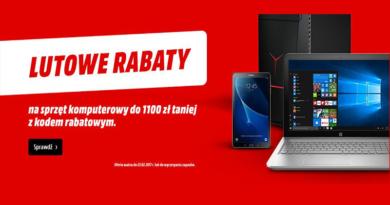 Promocja Media Markt Lutowe rabaty! Do 1100 zł TANIEJ