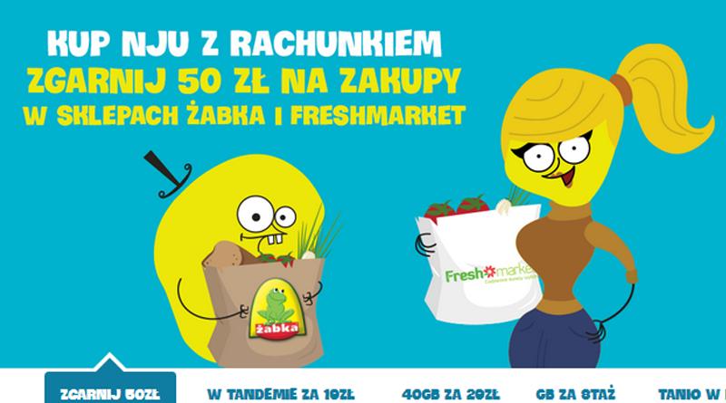 Promocja Nju Mobile Zgarnij 50 zł na zakupy