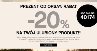 Promocja Orsay Rabat -20% na Twój ulubiony produkt