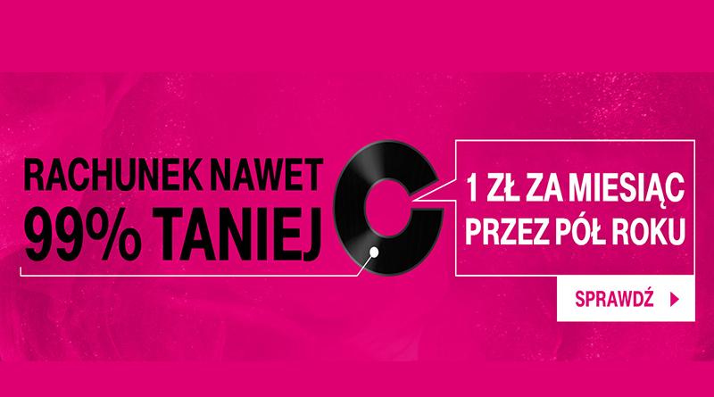 Promocja T-Mobile 1 zł za miesiąc przez pół roku