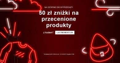 Promocja Zalando 50 zł zniżki na przecenione produkty