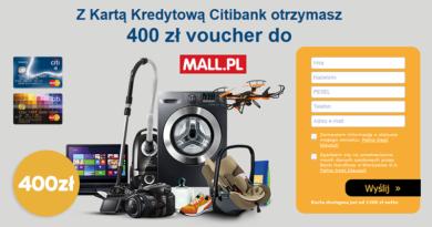 Z Kartą Kredytową Citibank otrzymasz 400 zł voucher do MALL.PL