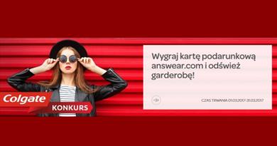 Wygraj kartę podarunkową answear.com w konkursie Colgate