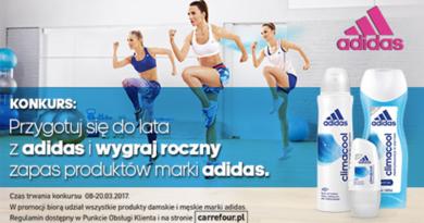 Przygotuj się do lata z Adidas biorąc udział w konkursie Carrefour