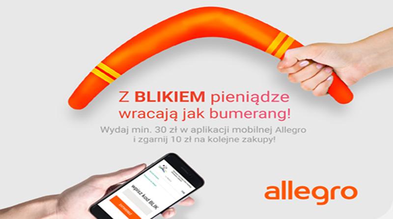 Promocja Allegro: Z BLIKiem pieniądze wracają jak bumerang