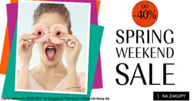Spring Weekend SALE do -40% w Douglas