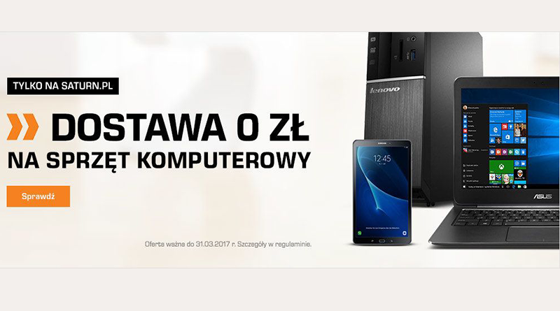 Dostawa 0 zł na sprzęt komputerowy tylko na Saturn.pl
