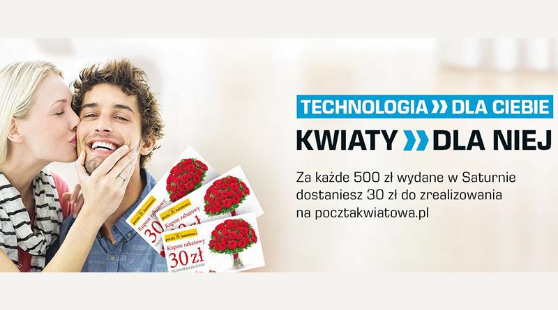 Promocja Saturn 30 zł do wykorzystania na pocztakwiatowa.pl