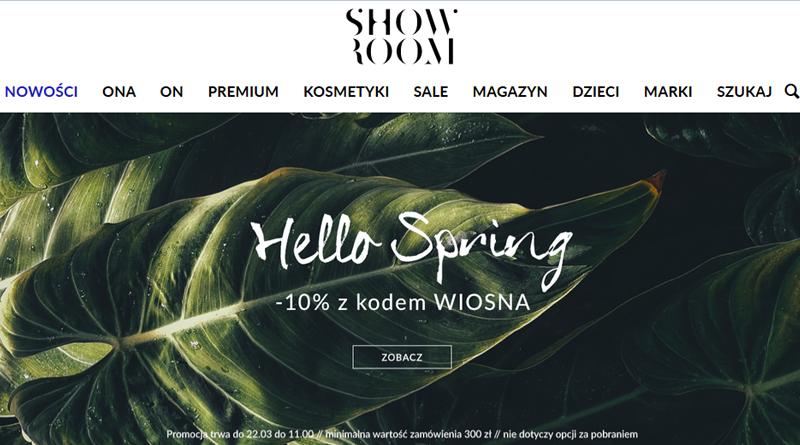 W Showroom z kodem WIOSNA dostaniesz rabat -10%