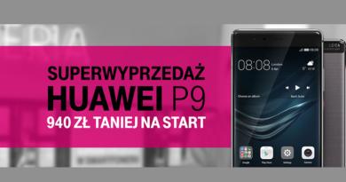 Huawei P9 taniej o 940 zł w T-Mobile