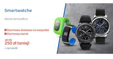 W sklepie eMAG Smartwatche kupisz do 250 zł taniej