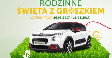 loteria Groszek Wygraj Citroen C3 w Rodzinnych Świętach z Groszkiem