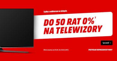 Niskie raty na telewizory w Media Markt do 50 rat 0%