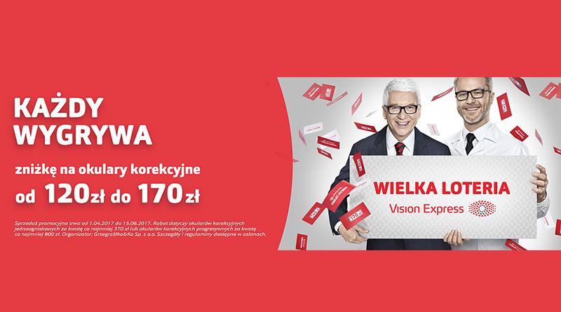 Loteria Vision Express: Każdy wygrywa zniżkę od 120 zł do 170 zł