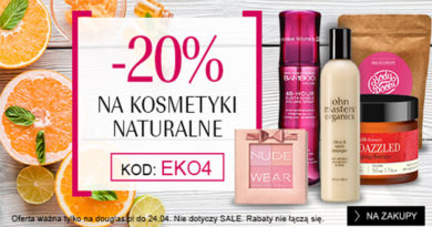 Rabat -20% na kosmetyki naturalne w Douglas