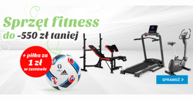 Sprzęt fitness do -550 zł taniej w OleOle