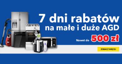 Małe i duże AGD nawet do 500 zł taniej w RTV euro AGD