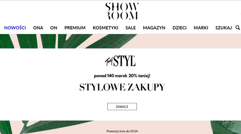 Stylowe zakupy w Showroom 20% taniej
