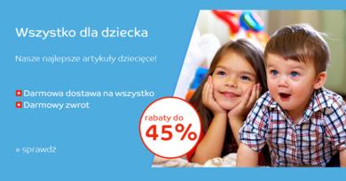 Artykuły dziecięce tańsze do 45% taniej na eMag
